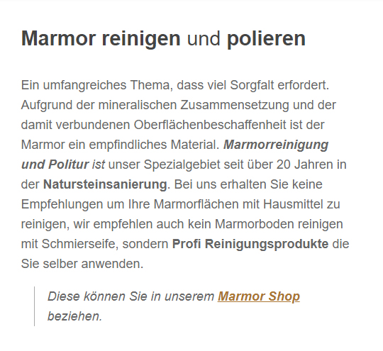 Marmor Reinigen in  Bad Rothenfelde